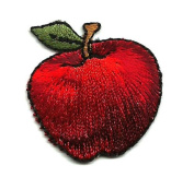 DKAORU Apple - Fruit - Teacher - Fully Embroidered Iron On Applique Patch Happy crafting