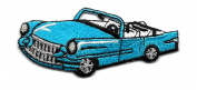 DKAORU CAR - 130cm S CONVERTIBLE - TURQUOISE EMBROIDERED IRON ON PATCH Happy crafting