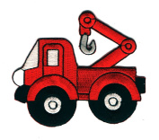 DKAORU Tow Truck - Truck - Mechanic - Vehicle - Embroidered Iron On Patch - Uniforms Happy crafting