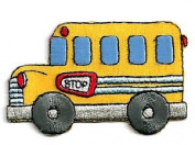 DKAORU Bus - School Bus - Transportation - School - Vehicles - Iron On Applique Patch Happy crafting