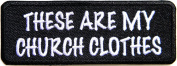 CHURCH CLOTHES Jesus Christian Cross Funny Motorcycle Outlaw Hog MC Biker Rider Hippie Punk Rock Jacket T-shirt Patch Sew Iron on Embroidered Sign Badge