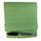 Large Blank GREEN Iron on Clothing Labels with special Permanent Marker - Larger size easier to write on!