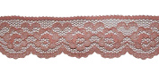 """Vintage 1 1/4"""" Peach Scalloped Floral Flat Lace 3.2 cm DIY Crafts Hair Bows 5 Yd"""