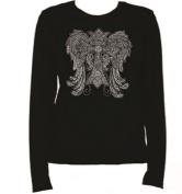 Crystal Wings Over 7000 Rhinestone Ladies T Shirt LR KR6Z