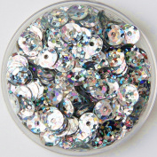 .   1000pcs 6mm Bright Bling AB Colour Sew on Applique Trim Cup Laser Hologram PVC Loose Sequin Paillettes Sewing for DIY Wedding Dress Craft Garment Scrapbook Material