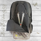 Special Sales Footmuff for Baby Carriers as Maxicosi and Cybex, Hauck Britax in Grey