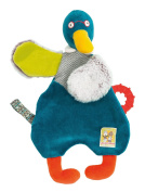 Moulin Roty Les Cousins Duck - Soft Toy with Dummy Attachment