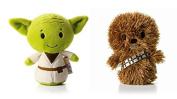 Hallmark Star Wars Itty Bitty Set Of 2 Yoda and Chewbacca Soft Toys 11cm Tall