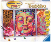 "Ravensburger 28976 23cm Golden Buddha"" Paint by Numbers Kit"