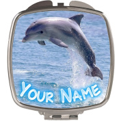 Personalised Dolphin Compact Mirror