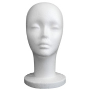 Foam Mannequin Head, Tonsee Female Styrofoam Foam Mannequin Manikin Head Model Wig Hair Glasses Hat Display