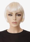 Platinum Blonde Bob Wig, Short, Louise Brooks Style