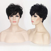 Royalvirgin Modern Lady's wigs Black Short Straight Synthetic Wigs with Heat Resistant fibre Wig that Look real Hair New Arrival