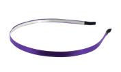 Trimweaver 12-Piece 5mm Satin Lined Metal Headband, 3/16-Inch, Purple