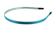 Trimweaver 12-Piece 5mm Satin Lined Metal Headband, 3/16-Inch, Turquoise