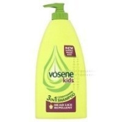 THREE PACKS of Vosene Kids 3 in 1 Conditioning Shampoo Head Lice Repellent 400ml by Vosene