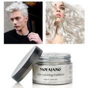 HailiCare 120g Grandpa White Hair Wax Men Women Professional Hair Pomades, Long-lasting Moisturising Modelling Hair Styling Fluffy Matte Hair Mud Gel Cream