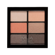 MUA - 6 SHADE EYESHADOW PALETTE - CORAL DELIGHTS - PEARL NEUTRALS