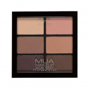 MUA - 6 SHADE EYESHADOW PALETTE - SOFT SUEDES - MATTE BROWNS