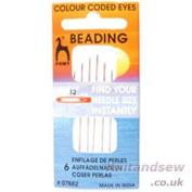 Pony Size 12 Beading Colour-Coded Eye Needles