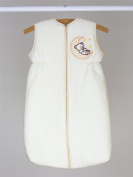 Baby Sleeping Bag with Zip Fastening 0 - 6 Months / 2.5 Tog Wrap Bag - MOON EMBROIDERY CREAM
