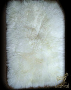 Lambland Genuine Sheepskin Pet - Seat Pads with Soft Quilted Backing in Natural Size Medium