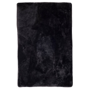 Lambland Genuine Sheepskin Pet - Seat Pads with Soft Quilted Backing in Black Size Large