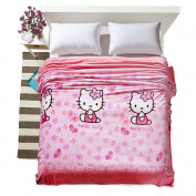 Warm Embrace Childrens Blankets series Cute Flowers Butterfly HELLO KITTY Flannel Blanket