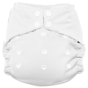Imagine Baby Products Bamboo AIO 2.0 Nappy, Snow, Snap