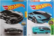 Hot Wheels Lamborghini Sesto Elemento and Tesla Model S Bundle