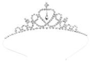 Simplicity Kid's Wedding Party Tiara w/ Clear Crystal Rhinestones Silver