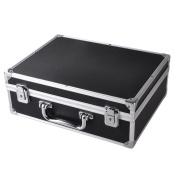 "AW Professional Tattoo Kit Case W/ Lock Key Aluminium Carry Storage Supply Bag Potable 12x 9"" x 10cm Black"