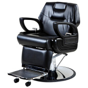 """Abraham"" Professional Hair Reclining Salon Barber Chair"