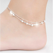 Doinshop Little Star Women Foot Jewellery Barefoot Sandal Beach Chain Ankle Bracelet