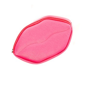 Sassy Pippi Cosmetic Bag with Lips Design, Red/Pink