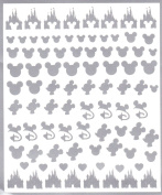 # Disney Press On Nail Stickers Collection (Silver) #