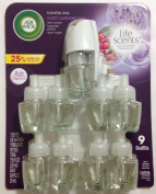 Air Wick Life Scents, 9 Larger 25ml Scented Oils & 1 warmer - Sweet Lavender Days