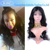 KBL 7A Brazilian 180% Density Free Part Silk Base Front Lace Wig Loose Wave Virgin Hair With Baby Hair 36cm - 60cm Natural Black