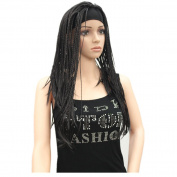StrongBeauty Women Long Braiding Crochet Hair With Headband Synthetic Half Hair Wig