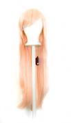 Tomoyo - Strawberry Blond Wig 80cm Long Straight Cut w/ Long Bangs