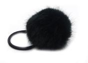 YABINA Women Girls Artificial Rabbit Fur Ball Hair Tie Rope Rubber Bands Elastic Ponytail Holders