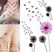 Body Art Temporary Removable Tattoo Stickers Dandelion Sticker Tattoo - FashionDancing