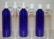 """Luscious Sapphire"" 240ml Blue Cosmo Bullet Bottles Set"