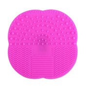 Dolovemk   Makeup Brush Silicone Cleaner Washing Scrubber Board Cosmetic Cleaning Mat Pad