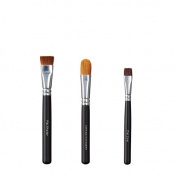VEGAN LOVE Flat Shader Ultimate Concealer Brush Trio, Flat Liner Face