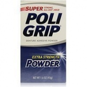 PoliGrip Super Denture Adhesive Powder, Extra Strength, 45ml (45 g) One Bottle Thank you to all the patrons We hope that he has gained the trust from you again the next time the service