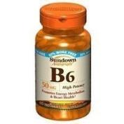 Vit B-6 Tablets 50 Mg Sundown, Size