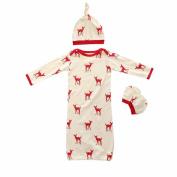 Mary ye Baby Boy Girl Sleeping Sack 3pcs Cotton Wearable Blanket Sleeping Bag