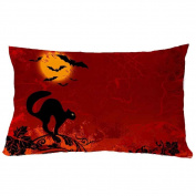 "Ikevan® 11.8"" *19.6""Halloween Square Pillow Cover Cushion Case Pillowcase Zipper Closure"