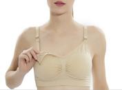 Womens Seamless Nursing Bra Padded Push up Maternity Bra
